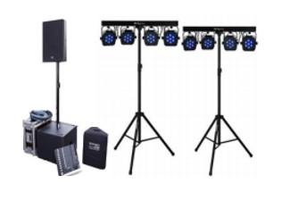 Tonset XM + Lichtset XS (bis ca. 60 Personen)  150€